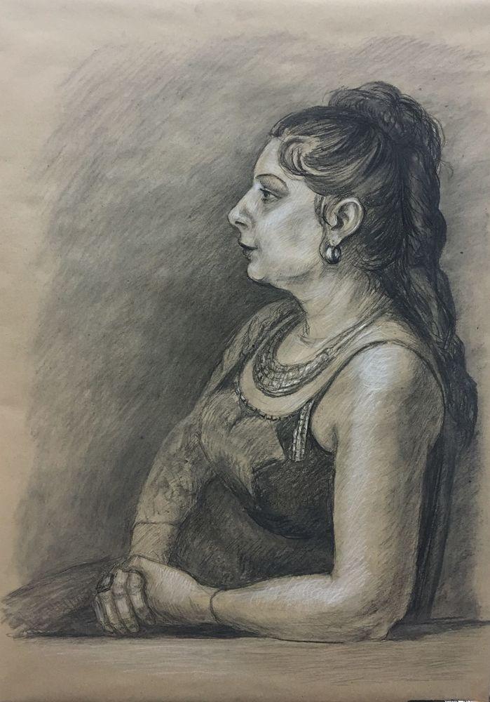 рисование, академический рисунок, сепия