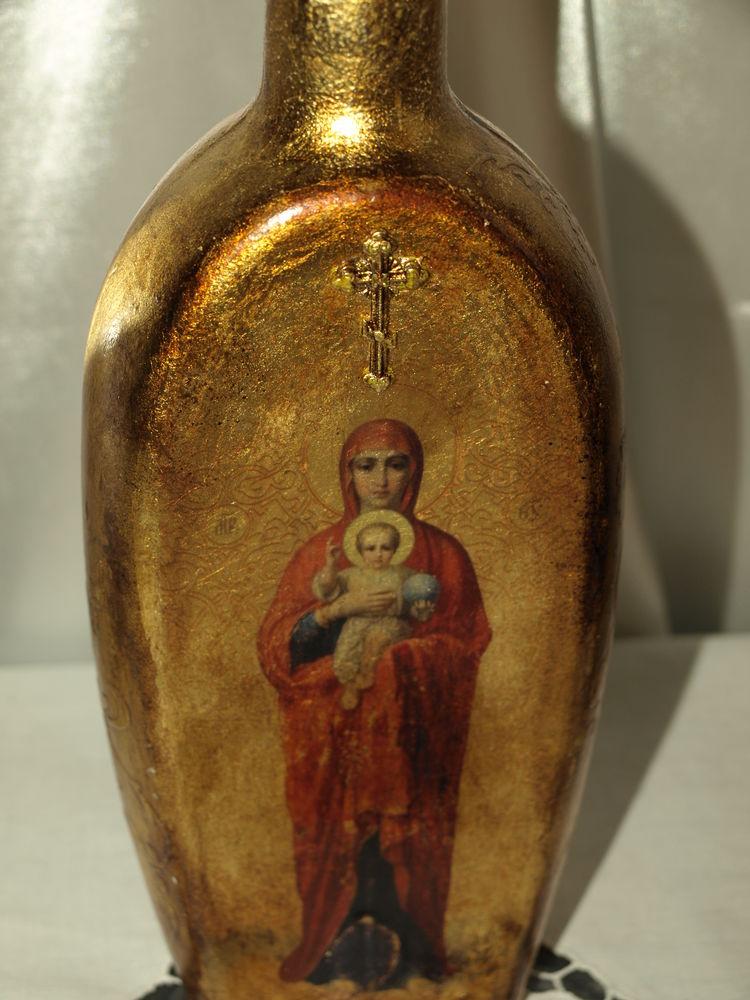 сосуд для святой воды, икона божьей матери