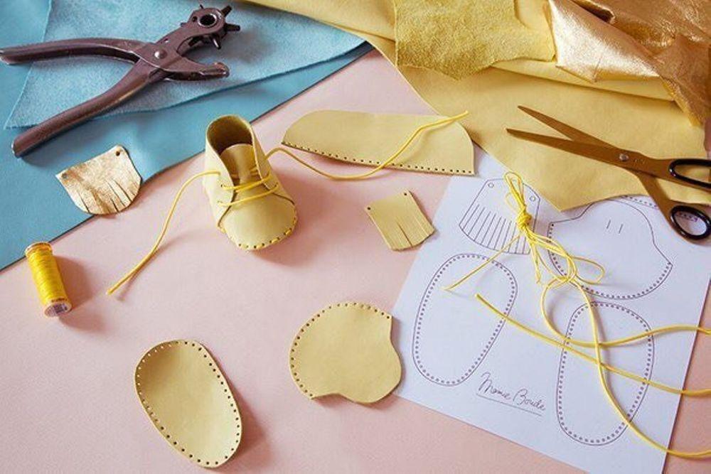 обувь ручной работы, текстильная кукла
