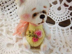 Счастье на ладошке. Новые мини-мишки с вышивкой в магазине. Ярмарка Мастеров - ручная работа, handmade.