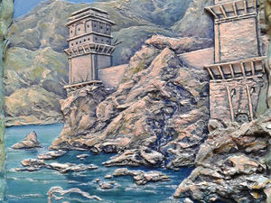 Делаем барельеф «Сторожевые башни». Ярмарка Мастеров - ручная работа, handmade.