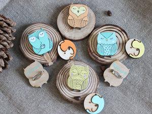Брошки Совушки | Ярмарка Мастеров - ручная работа, handmade
