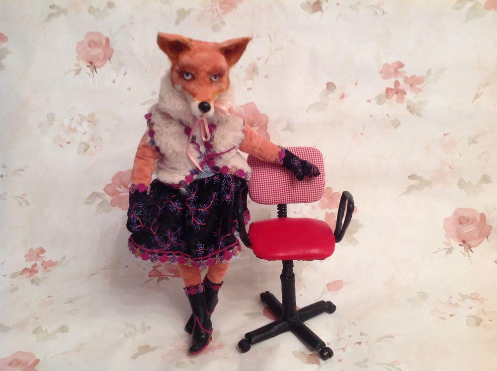 мастер-класс по стульчику, мастер-класс по лисичке, офисный стульчик, лисичка