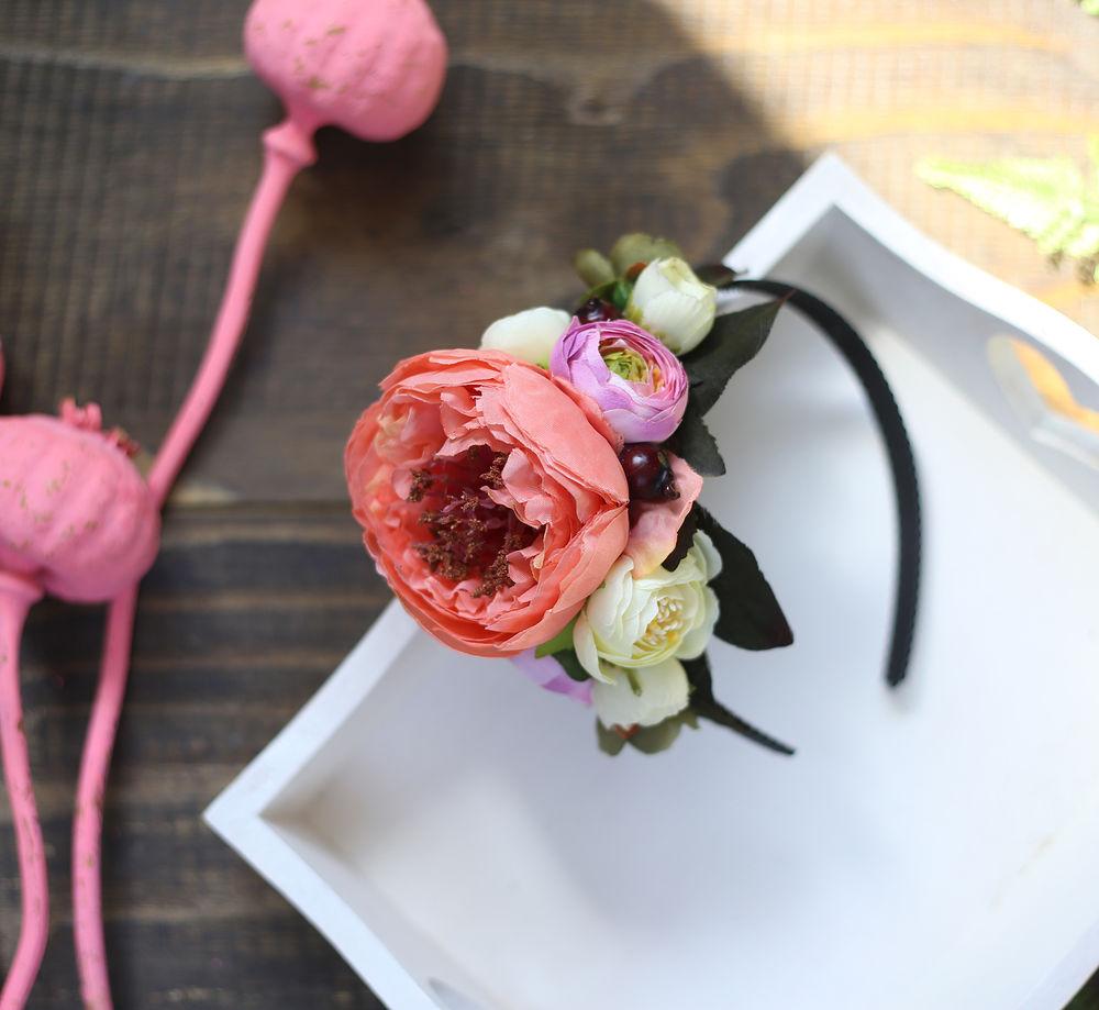 ободок для волос, розы