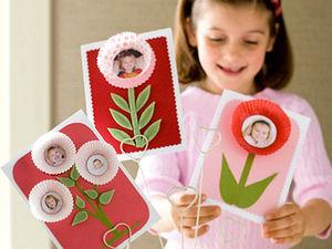 Идеи для создания детских открыток к 8 марта. Ярмарка Мастеров - ручная работа, handmade.