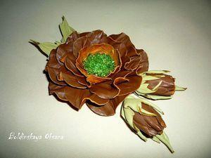 Создаем брошь-цветок из натуральной кожи. Часть 2. Ярмарка Мастеров - ручная работа, handmade.