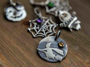 Серебряные кулоны для Хэллоуин-образов. Ярмарка Мастеров - ручная работа, handmade.