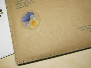Конверты для пересылки гербария и наборов наклеек с настоящими высушенными растениями. Ярмарка Мастеров - ручная работа, handmade.