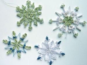 Создаем нежные снежинки в технике квиллинг. Ярмарка Мастеров - ручная работа, handmade.