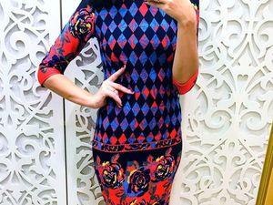 Аукцион платье размер 48, старт 1000 руб.. Ярмарка Мастеров - ручная работа, handmade.