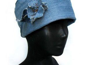 Мастерим джинсовую шляпку-ретро за два часа. Ярмарка Мастеров - ручная работа, handmade.