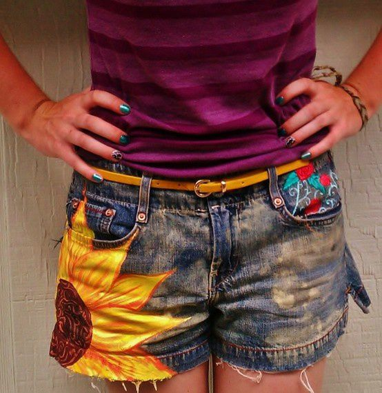 Sunflower shorts sure to make you smile.