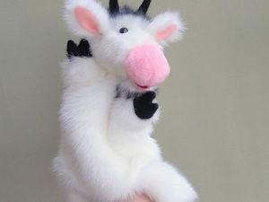 Бибабо в движении. Белый козлик.. Ярмарка Мастеров - ручная работа, handmade.