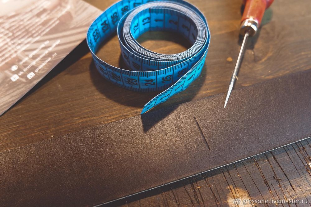 Step-by-step Tutorial for a Stitched Belt of English Bridle Leather, фото № 8