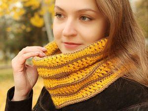 Скидки на все шарфы и снуды!. Ярмарка Мастеров - ручная работа, handmade.