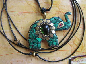 Новинка — Подвеска оберег на шнуре Индийский слон. Ярмарка Мастеров - ручная работа, handmade.