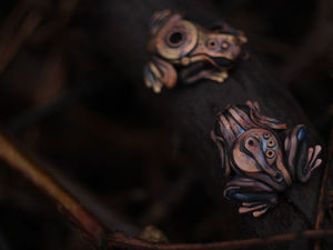 Кулоны лягушки-механоиды.. Ярмарка Мастеров - ручная работа, handmade.