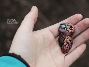 Лепим сову из полимерной глины в стиле «биомеханика». Ярмарка Мастеров - ручная работа, handmade.