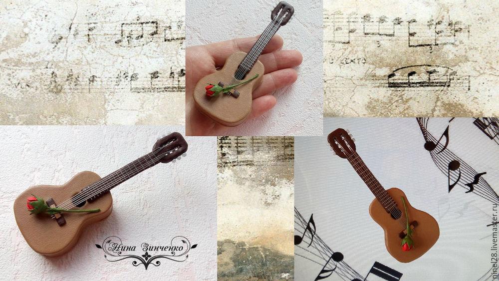 кожаная брошь, брошь-гитара, гитара из кожи, нина зинченко, авторская работа, украшения из кожи, роза из кожи, мини-гитара, кожаная флористика, цветы из кожи, кожаные украшения, музыкальный инструмент, музыка, музыкальный подарок, подарок мужчине, подарок музыканту, подарок гитаристу