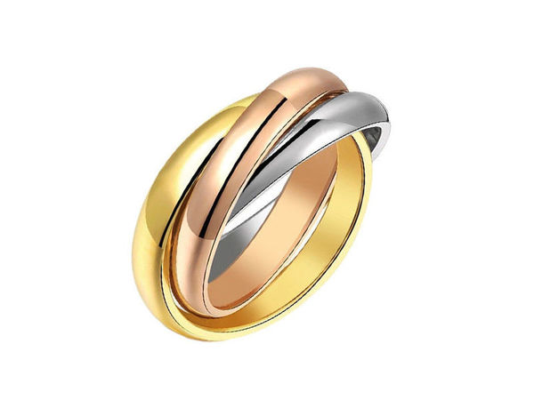 Тройное кольцо в стиле Cartier Trinity (Картье Тринити) | Ярмарка Мастеров - ручная работа, handmade