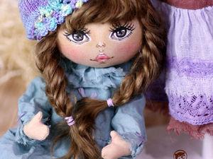Авторская текстильная кукла на шплинтовых креплениях как у тедди мишек из мини коллекции