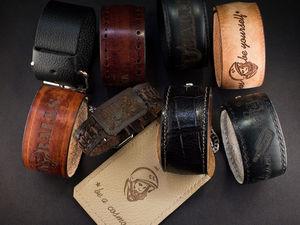 Мужские браслеты ручной работы с рисунком. Ярмарка Мастеров - ручная работа, handmade.