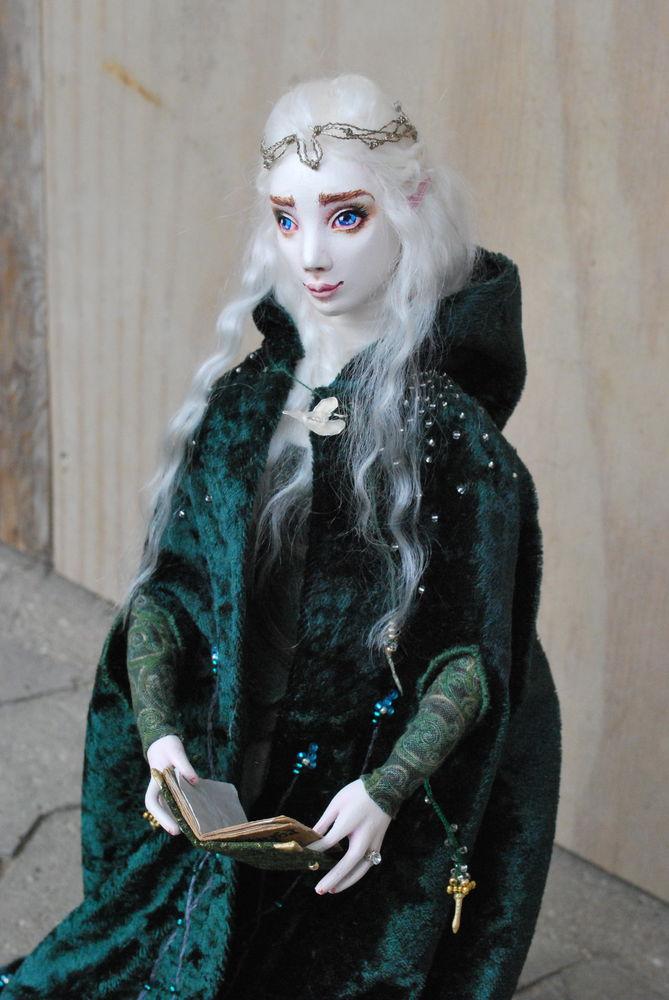 кукла ручной работы, процесс работы, лесная тема