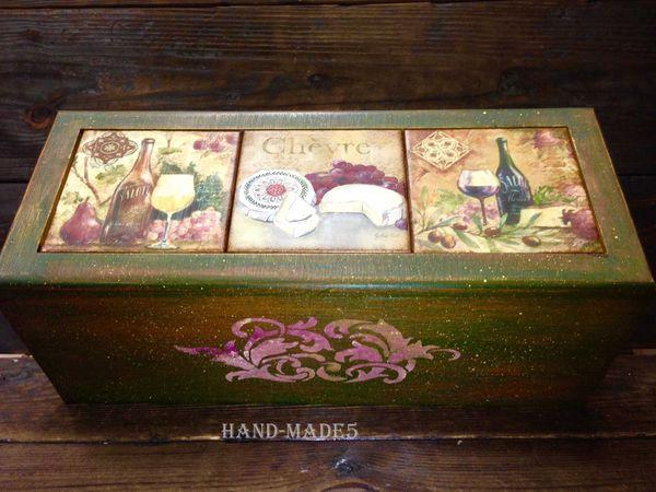 Короб для вина или елочных шаров в стиле
