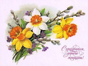 Весна. Цветы. 8 Марта.. Ярмарка Мастеров - ручная работа, handmade.