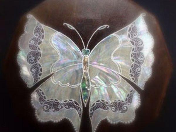 Перламутровая бабочка | Ярмарка Мастеров - ручная работа, handmade