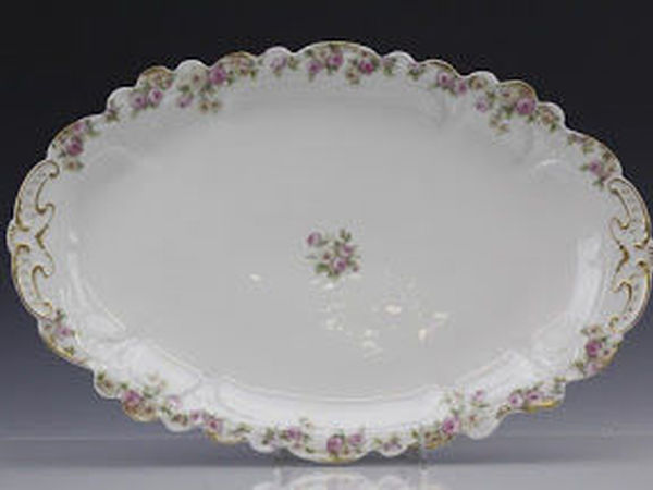 Charles Field Haviland Limoges France Painted Porcelain Rose Flower Oval Platter | Ярмарка Мастеров - ручная работа, handmade