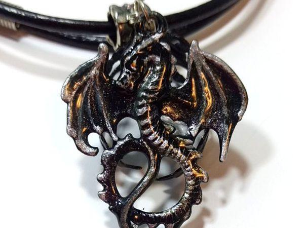 Новый Кулон – дракон  с авторской росписью «Даркус» | Ярмарка Мастеров - ручная работа, handmade