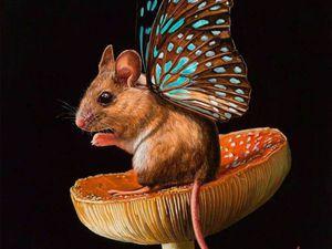 Удивительные мыши-бабочки в работах Lisa Ericson. Ярмарка Мастеров - ручная работа, handmade.