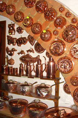 This collection of copperware is beautiful.  Have you ever made anything in a copperware mold?