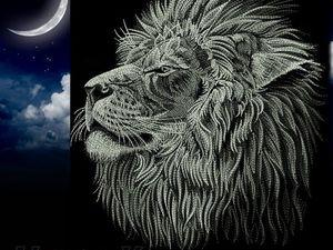 Ночной лев. Ярмарка Мастеров - ручная работа, handmade.