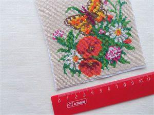 Оформляем вышивку при изготовлении мешочка. Ярмарка Мастеров - ручная работа, handmade.