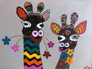 Если вы приглашены на Др к школьной подруге — лучший подарок — Два Влюбленных Жирафа!!!!. Ярмарка Мастеров - ручная работа, handmade.