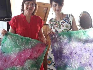 Фотоотчеты с моих мастер-классов по батику. Ярмарка Мастеров - ручная работа, handmade.