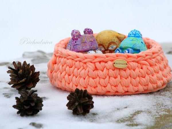 Совушки в корзинке - набор керамических сов в вязаной корзинке | Ярмарка Мастеров - ручная работа, handmade