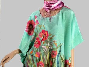 Заказать наядное шелковое  летнее платье   Ярмарка Мастеров - ручная работа, handmade