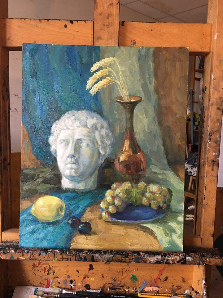 живопись своими руками, портрет с натуры