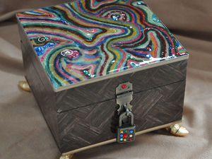 Декорирование шкатулки в стиле китч. Часть 1. Ярмарка Мастеров - ручная работа, handmade.