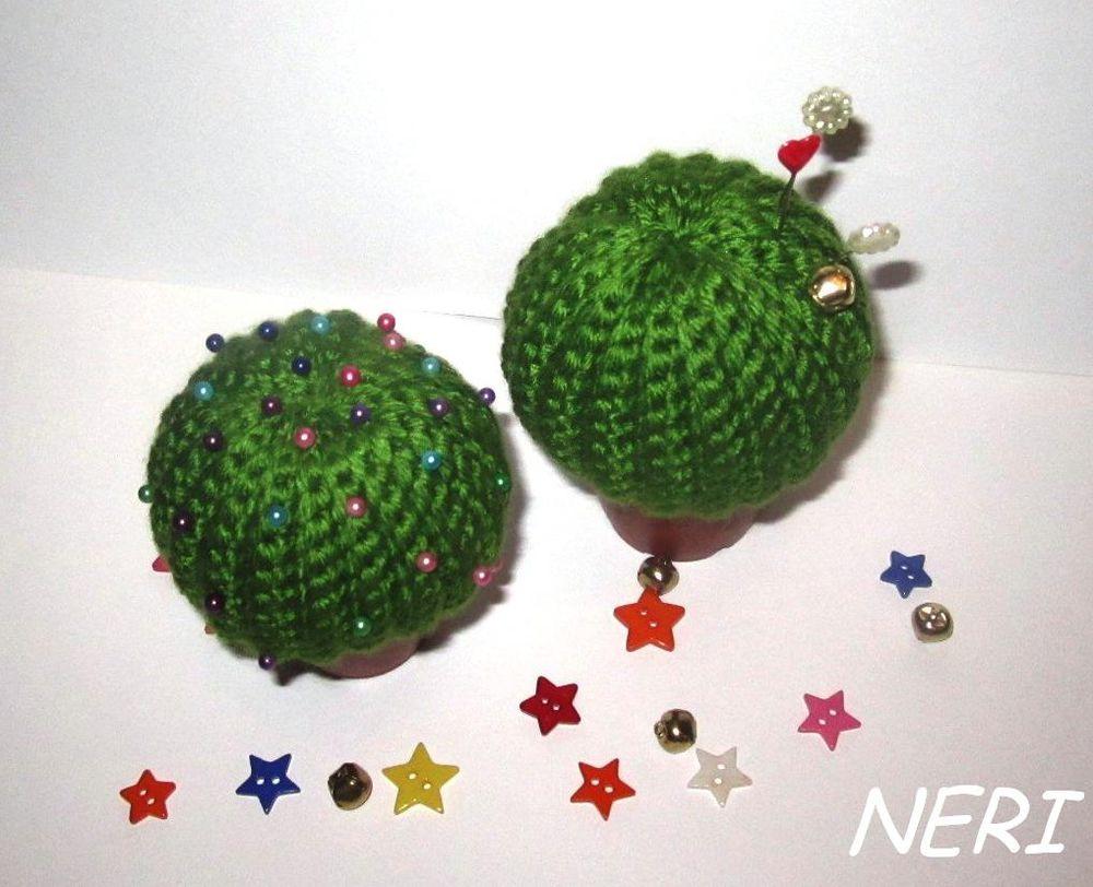 кактус, вязаный кактус