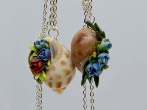 Создаем кулон «Цветущие ракушки». Ярмарка Мастеров - ручная работа, handmade.