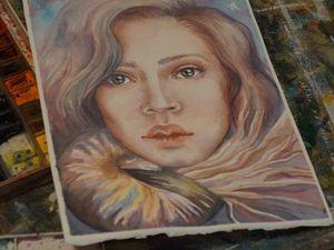 Видео мастер-класс: портрет девушки с наутилусом акварелью. Ярмарка Мастеров - ручная работа, handmade.