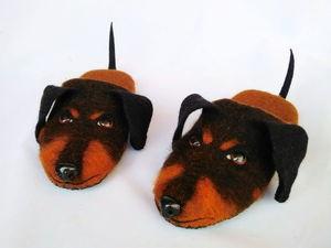 В мире животных. Домашние тапочки со сложным декором (11 июля. Москва) | Ярмарка Мастеров - ручная работа, handmade