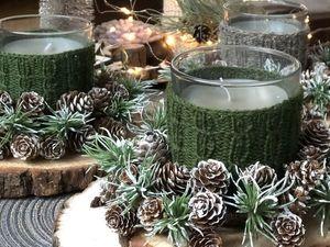 Новинка — свечи в теплых свитерах. Ярмарка Мастеров - ручная работа, handmade.