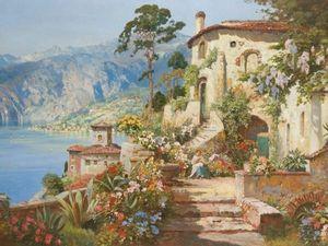 Солнечные итальянские полотна австрийского художника Alois Arnegger. Ярмарка Мастеров - ручная работа, handmade.