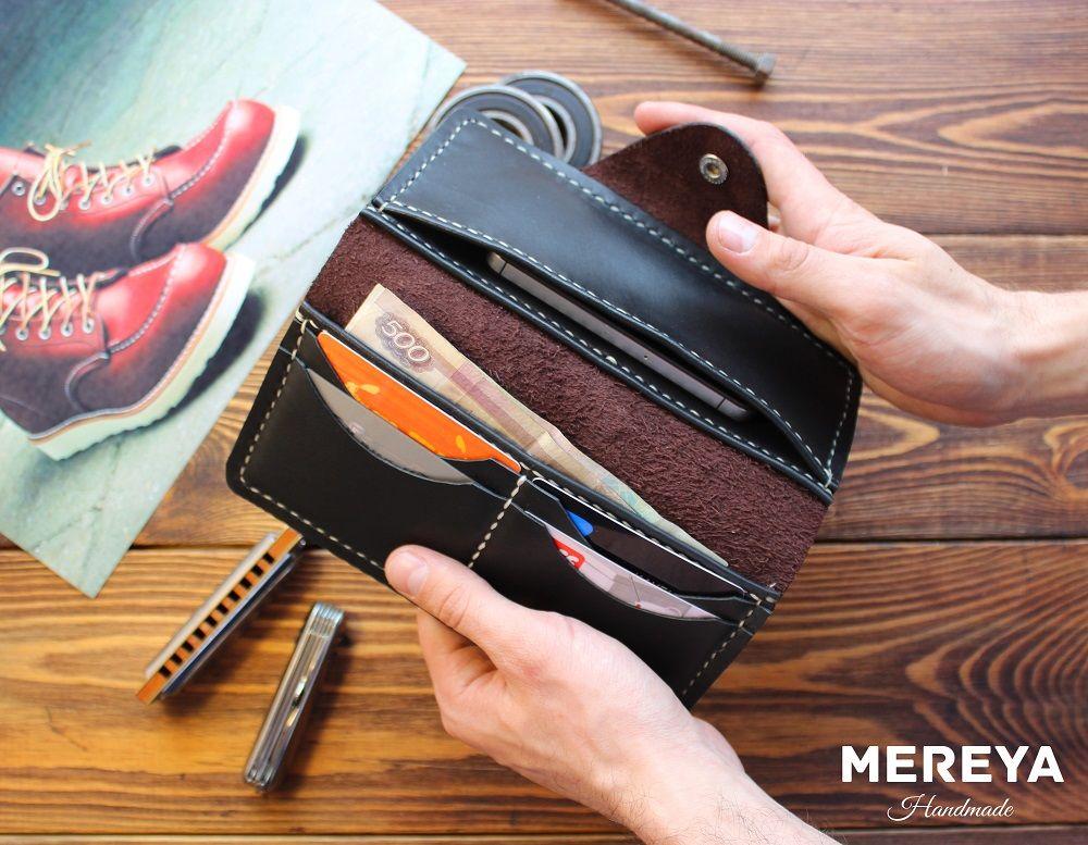 портмоне ручной работы, кожаный кошелек, сумка женская