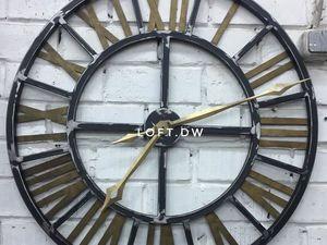 Часы в стиле лофт. Ярмарка Мастеров - ручная работа, handmade.